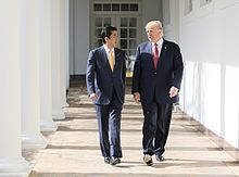Shinzō Abe and Donald Trump